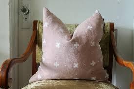blush linen pillow cover throw pillow