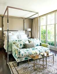 Chrome Canopy Bed Poster Bed With Floral Inspire Q Solivita King ...