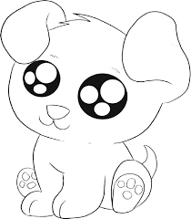 Fresh Coloring Pages Cute Puppies 35 For Line Drawings With