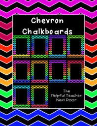 Chalkboard Brights Classroom Rules Chart Bright Chevron Chalkboard Borders