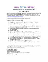 Babysitter Job Description For Resume Resumes Babysitter Resume Agreeable Nanny Job Description In Sample 15