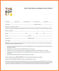 Room Rental Contract Event Space Rental Agreement And Room Template Free Rv Park