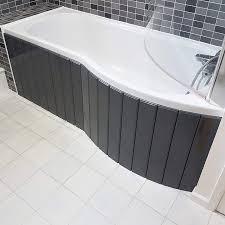Bath Panel Lights Flexible Bath Panel Ideal For P Shaped Shower Baths Any Colour Finish