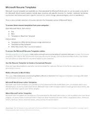 Resume Template Microsoft Word 2003 It Office Templates Builder For