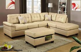 image of beige leather recliner sofa