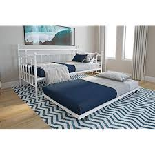 Pull up bed Wall Dhp Manila Metal Daybed And Trundle Twin Size Daybed And Trundle Multifunctional White Amazoncom Metal Daybeds With Trundle Amazoncom