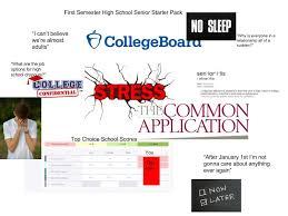 First Semester High School Senior Starter Pack Starterpacks