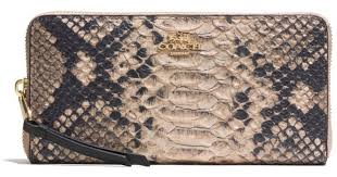 Lyst - Coach Madison Accordion Zip Wallet in Diamond Python Leather
