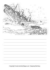 titanic printables titanic story paper