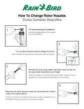 Rotor Nozzle Tree For 5000 Series Rotors Rain Bird