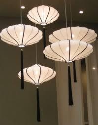 asian lighting. Black \u0026 White Asian Lanterns With Tassels Lighting N