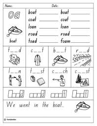 These worksheets help kids learn to use letters to make sounds and words. All Worksheets Oa Oe Ow Worksheets Phonics Worksheets Grade 1 Kids Math Worksheets Vowel Team Words