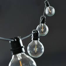 House Doctor Light Chain Black 10 Lightbulbs Rubber 10 2m