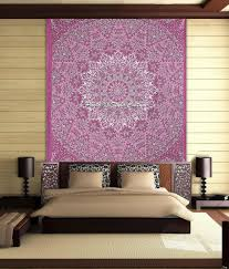stylo culture elephant mandala tapestry cotton pink grey queen printed star paisley wall hanging throw beach