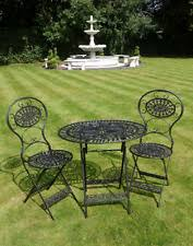 green wrought iron patio furniture. bistro set black wrought iron table 2 chairs garden patio furniture picnic porch green