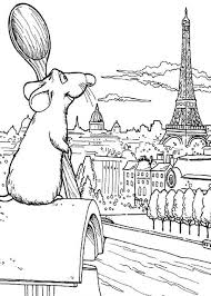 Small Picture Ratatouille Admiring Eiffel Tower Coloring Pages Batch Coloring