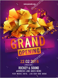 Free Grand Opening Flyer Template Grand Opening Flyers Under Fontanacountryinn Com