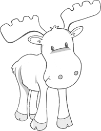 Small Picture Free Printable Moose Coloring Pages For Kids