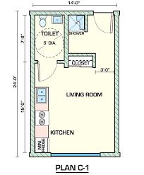 Open Concept Studio Apartment Floor Layout