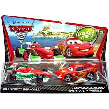 francesco bernoulli and lightning mcqueen. Francesco Bernoulli Lightning McQueen With Party Wheels Diecast Car For And Mcqueen
