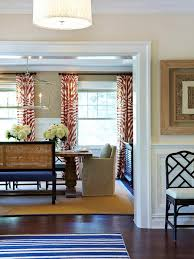 Patterned Curtains For Living Room Photos Hgtv Neutral Dining Room With Zebra Patterned Curtains Cubtab