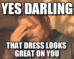 Yes Darling - Frustrated Boromir meme on Memegen via Relatably.com