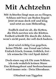 Gedicht Zum 18geburtstag 18te Geburtstag Geburtstag Sprüche