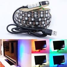game room lighting. Le Zoey 5V USB LED Strip Light Lamp 200CM 120leds SMD 5050 RGB Led Flexible Multi-color Changing Accent Lighting Kit TV Background Lightin Game Room