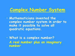 5 complex number system
