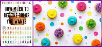 Food Coloring Chart Food Color Chart Plus 2 Great Recipes For White Frosting