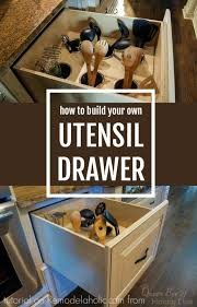 diy upright utensil drawer organizer via remodelaholic