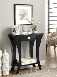 com black finish console sofa entry table with drawer by with black