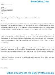 Management Resignation Letter Resignation Letter For Manager Free Download