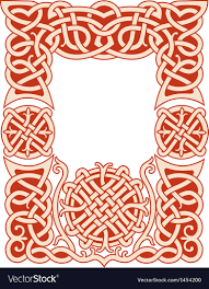 Nordic Pattern Gorgeous Nordic Frame Pattern Royalty Free Vector Image