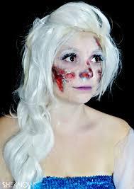 zombie elsa makeup