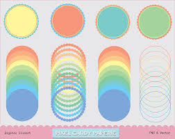 I absolutely love the intricate design! Free Scalloped Digital Frames Colored Clip Art Set No 2 Pixel Candy Paperie