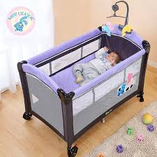 Multifunctional <b>folding crib</b> child bed Continental <b>portable</b> playpen ...