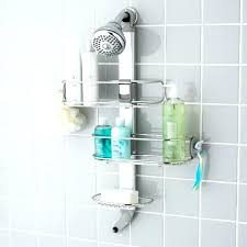 tension pole shower caddy rust proof stainless steel r wall mounted wees beyond reviews stainless steel