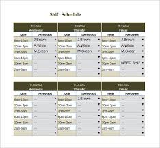 easy work schedule maker excel rota template deodeatts tk
