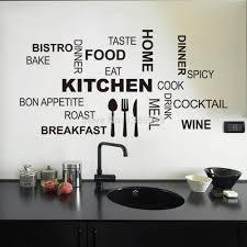 amazing top 30 58cm black vinyl stick words fashion kitchen sticker wall decor kitchen wall