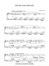 clair de lune sheet music guitar minuet from clair de lune sheet music direct