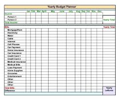 Annual Planning Calendar Template Yearly Budget Excel Free Planner