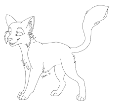 Awesome Looking Warrior Cats Coloring Pages - Womanmate.com