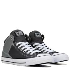 converse mid tops. converse chuck taylor all star high street mid top sneaker dark grey/lt grey tops o