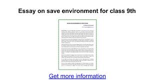 essay on save environment for class th google docs