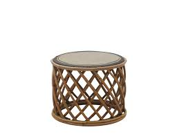 round rattan coffee table alice garden side table by il giardino di legno