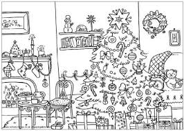 Christmas Coloring Pages Room Picture Only Coloring Pages