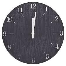 modern minimalist wooden wall clock