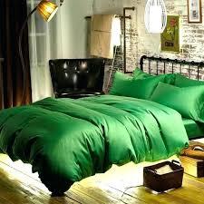 green duvet cover cotton sateen woven fabric emerald bed queen bedspread king bedding forest velvet fre
