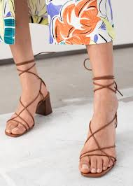 strappy lace up leather stis